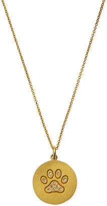 Roberto Coin 18k Diamond Paw Disc Pendant Necklace