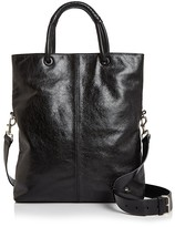 Halston Ali Foldover Large Leather Tote