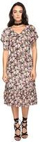 Brigitte Bailey Jett V-Neck Dress with Ruffle Bottom Women's Dress