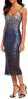 Laundry by Shelli Segal Ombre Sequin Slip Dress
