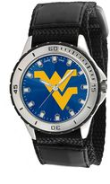 Game Time Veteran Series West Virginia Mountaineers Silver Tone Watch - COL-VET-WVU