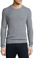 ATM Anthony Thomas Melillo Thermal-Stitch Crewneck Sweater, Gray