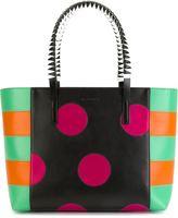 Etro dot and stripe shopper tote