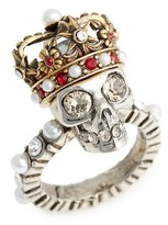 Alexander McQueen Women's Skull King Ring