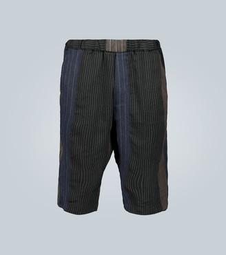 Barena Linen and cotton-blend shorts
