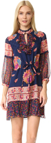 Anna Sui Bouquet Scarf Print Silk Dress