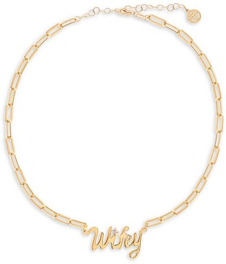 GABIRIELLE JEWELRY Get Personal 14K Gold Vermeil & Crystal Chain Necklace