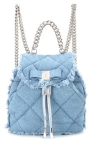 Salvatore Ferragamo Giuliette quilted denim backpack