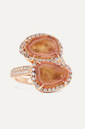 Kimberly Mcdonald McDonald - Net Sustain 18-karat Rose Gold, Geode And Diamond Ring