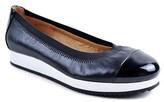 Adrienne Vittadini Gilsa Leather & Patent Flat.