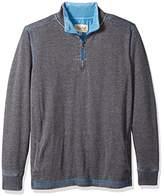 Margaritaville Men's Long Sleeve 1/4 Zip Pullover Back Print