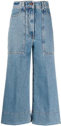 Philosophy di Lorenzo Serafini Wide-Leg Cropped Jeans