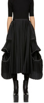Sacai Black Classic Shirting Skirt