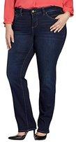 Jag Jeans Women's Plus-Size Portia Straight in Platinum Denim