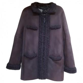 Giambattista Valli Brown Shearling Coat for Women