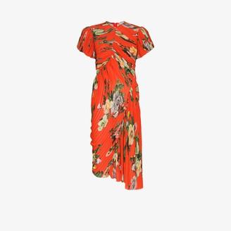 Preen by Thornton Bregazzi Meggy plisse pleat floral dress