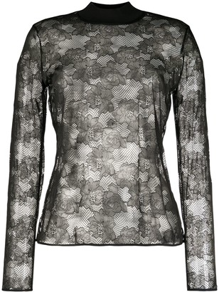 Wolford Floral Lace Top