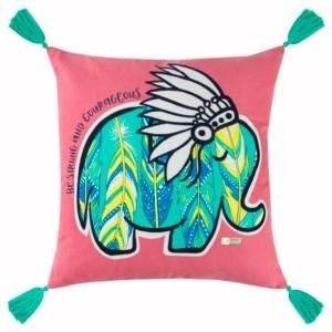 "Rizzy Home Simply Southern 18"" x 18"" Animal Print Pillow"