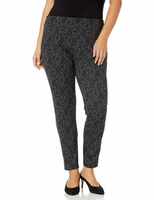 Slim Sation SLIM-SATION Women's Plus Size Pull-On Print Ankle Legging