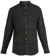 Massimo Alba Canary Checked Linen Shirt