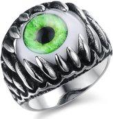 """3Aries Fashion Stainless Steel Eye Rings Powerful Magic Sign Man Ring Size 8 (0.71"""" Diameter)"""
