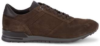 Canali Lace-Up Suede Sneakers