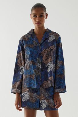 Cos Cotton Printed Long-Sleeve Pajama Shirt