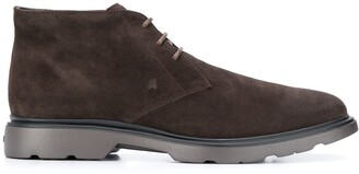 Hogan Round-Toe Ankle Boots