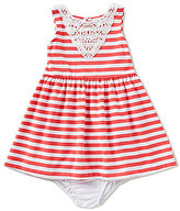 Starting Out Baby Girls 12-24 Months Striped Lace-Trim Knit Dress
