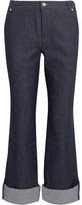 Vanessa Seward Mobile Cropped High-Rise Straight-Leg Jeans