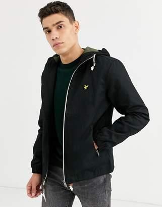 Lyle & Scott hooded twill jacket-Black
