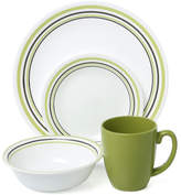 Corelle Livingware Garden Sketch Bands 16 Piece Dinnerware Set, Service for 4