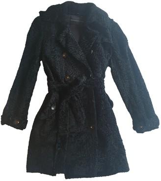 Dennis Basso Black Astrakhan Coat for Women