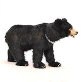 Black Bear Seat Ride-On Plush Toy