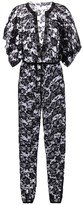 Thumbnail for your product : Norma Kamali Floral stretch-lace jumpsuit