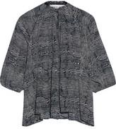 Apiece Apart Santa Clara Printed Silk-Crepe Tunic