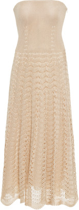 Ralph Lauren Strapless Crochet-Knit Dress