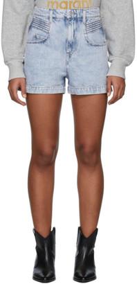 Etoile Isabel Marant Blue Denim Hiana Shorts