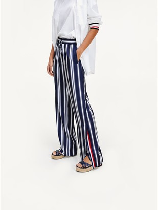 Tommy Hilfiger Icon Wide Leg Stripe Pant