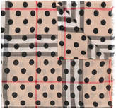 Burberry polka-dot House Check scarf