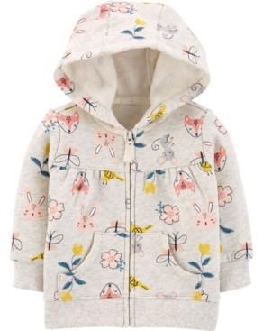 Carter's Baby Girls Zip-Up Fleece Hoodie