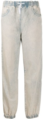Alexander Wang Drawstring Straight-Leg Jeans