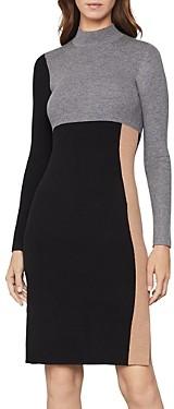 BCBGMAXAZRIA Color-Block Sweater Dress