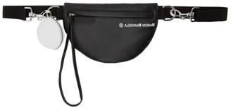 MM6 MAISON MARGIELA Black Faux-Leather Logo Bum Bag