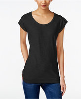 Style&Co. Style & Co Chiffon-Trim T-Shirt, Created for Macy's