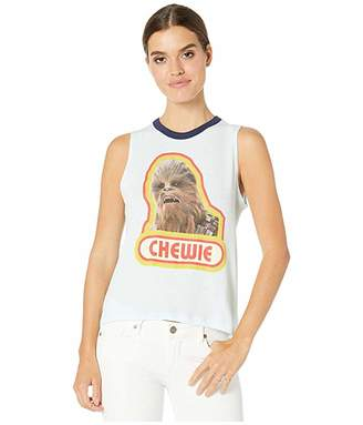 Chaser Chewie Gauzy Cotton Hi-Low Muscle Tank (Waterfall/Avalon) Women's Clothing
