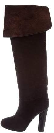 Aperlaï Suede Knee-High Boots