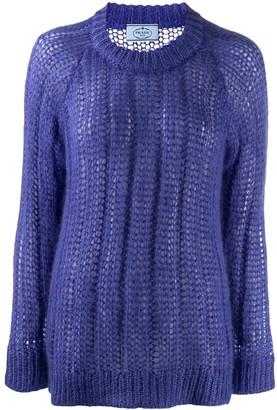 Prada Crew Neck Knitted Sweater