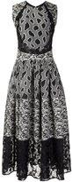 Sophie Theallet flared mix pattern dress - women - Silk/Cotton/Acrylic/Viscose - 8