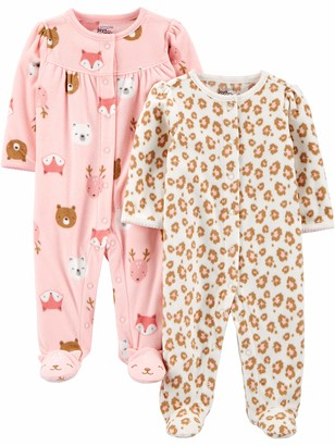 Simple Joys by Carter's 2-Pack Snap Fleece Footed Sleep and Play Baby and Toddler Sleepers